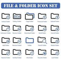 folder icon set design vector