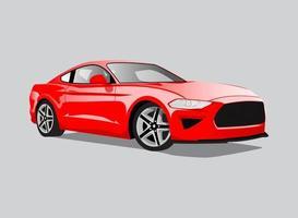 red car illustration vector