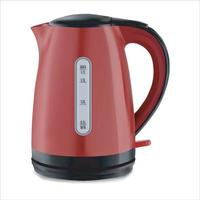 One electric red kettle vector
