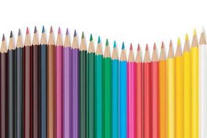 seamless colored pencils row vector