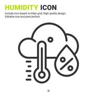 Humidity premium icon with multiple style isolated on white background from ecology collection. Vector illustration humidity concept design template for website, mobile apps, UI and UX. Editable size