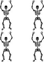 skeleton seamless pattern vector