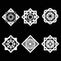 Decorative ornament set vector