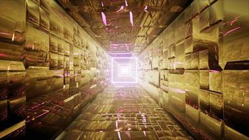 Glow Square Light in the Gold Tunnel video