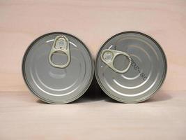 Food tin cans photo