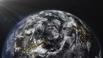animation des éléments terrestres de cette image fournie par la nasa video