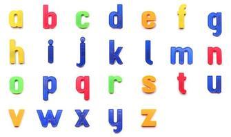 letras minúsculas del alfabeto foto