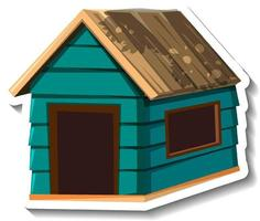 A small green wooden house isolated vector