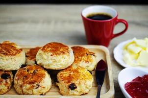 Close up of Scone homemade for coffee times backgrounds photo