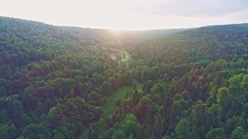 scenario di droni bellissimo paesaggio naturale video