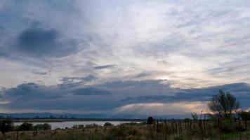 mooie wolken aan de hemel video