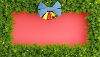 frontera de ramas de arbol de navidad foto
