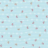 Winter seamless pattern on soft blue background for Christmas or New year decorative,kid product or wallpaper vector