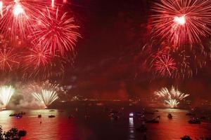 October 29, 2019 Republic Day celebrations and  fireworks at Istanbul Bosphorus photo