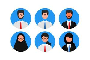 set of faceless man and woman avatar. job, profile picture, vector
