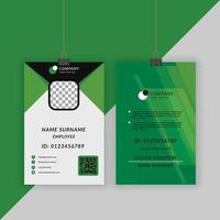 Corporate ID Card Template Design vector
