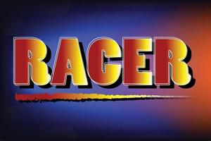 Cool racer, biker typography vector