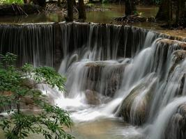 Waterfall that is a layer in Thailand photo