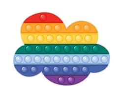 Pop it fidget toy cloud shaped vector