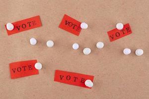 composición de democracia de estilo de papel plano laico foto