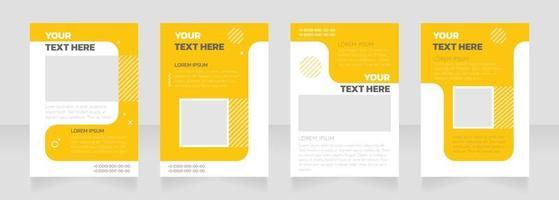 Kindergarten yellow and white blank brochure layout design vector