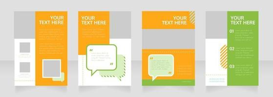 Marketing service blank brochure layout design vector