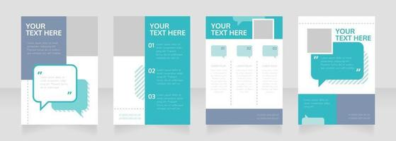 Consulting firm blank brochure layout design vector