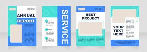 Aqua blank brochure layout design vector