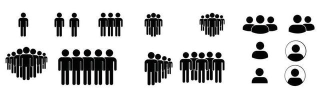 People icons. Human community group, people crowd. Meeting employees vector