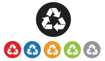 Recycle icons set, Trash bin, Vector illustration