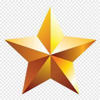 The Golden star. Vector illustration