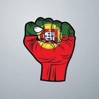 bandera de portugal con diseño de mano vector