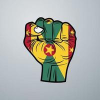 Grenada Flag with Hand Design vector
