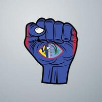 Guam Flag with Hand Design vector