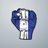 Honduras Flag with Hand Design vector