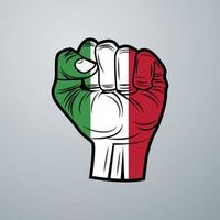 Hungary Flag with Hand Design vector