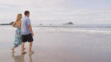 Couple at beach, Costa Rica. Shot on RED EPIC for high quality 4K, UHD, Ultra HD resolution. video