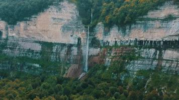 waterfall aerial view video