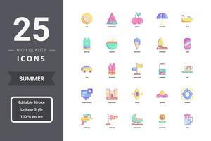 Summer icon pack for your website design, logo, app, UI. vector