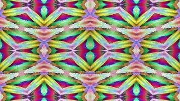 abstrakt texturerad mångfärgad kalejdoskopbakgrund. video