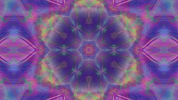 abstrakt fantasy mångfärgad mönstrad bakgrund kalejdoskop video