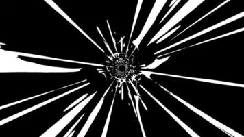 Abstract Black And White Graphic Vortex Tunnel Loop video