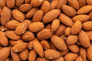 Almond nuts close up. It can be used as a background photo