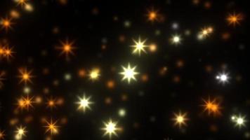 scintillement statique flou abstrait de mouvement d'étoile dans l'obscurité. video
