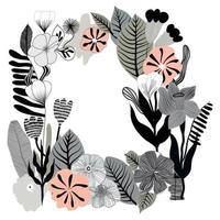 flower frame plant nature border decoration vector