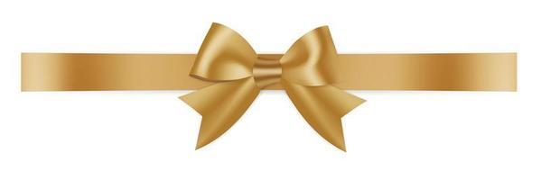 Golden Bow tie ribbon vector