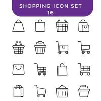 shopping icon set vector for your design