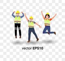 trabajador civil ilustración de dibujos animados minimalista dibujo vectorial vector