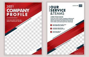 Company Profile Page Template vector