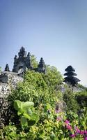 uluwatu ancient landmark clifftop balinese hindu temple in bali indonesia photo